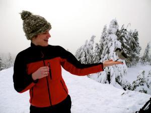 erin with birds